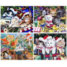 DIY,Diamond Painting,Cross Stitch,Cats,5D,Needlework,Mosaic,Full,Square,Drill,Diamond Embroidery,Children Bedroom