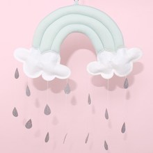 Nordic Style Cotton Rainbow Cloud Tent Wall Hanging Ornaments Photo Prop Home Bedroom Decorations Christmas Gifts Kids Toy(China)