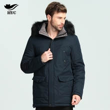 HAI YU CHENG Winter Coat Male Quilted Puffer Jacket Padded Jacket Parka Men Jackets Anorak Long Trench Coat Fur Collar Parka(China)