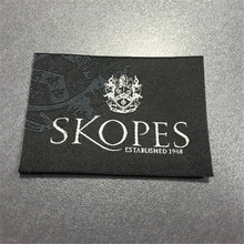Custom Brand Woven Label Clothing Main Label etiquetas Garment tags