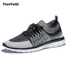 TianYuQi 2017 Lightweight Walking Shoes Men Comfortable Textile Breathable Sneakers Lace-Up Shoes High Quality Sports Shoes