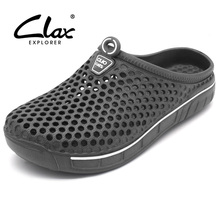 Clax Garden Clog Shoes For Men Quick Drying Summer Beach Slipper Flat Breathable Outdoor Sandals Male Gardening shoe(China)