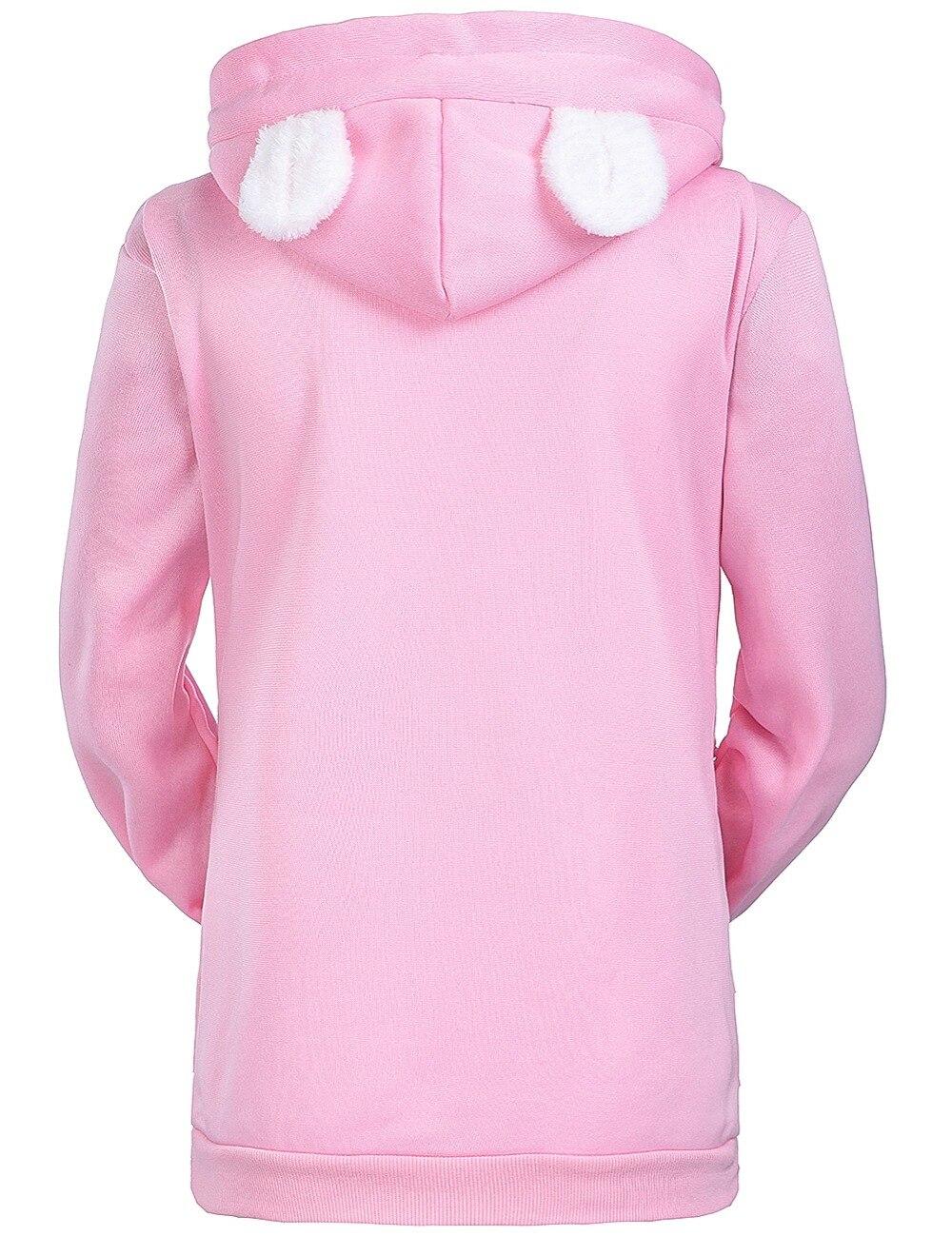 17 New Cartoon Hooded Hoodies Lover Cats Kangaroo Dog Hoodie Long Sleeve Sweatshirt Front Pocket Casual Animal Ear Hoodie 19