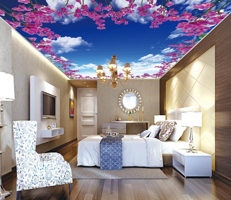 luxury wallpaper ceiling custom 3d wallpapers on the ceiling Flower ceiling 3d wallpaper for bathroom modern wall mural ceiling<br><br>Aliexpress