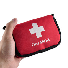 Emergency Survival Kit Red Colors Empty Travel Sports Home Medical Bag Outdoor Car Safe Emergency Survival Mini First Aid Kit(China)