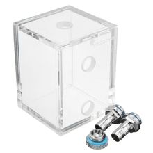 Acrylic 250ml Water Tank G1/4 With 2 Connector For PC CPU Liquid Cooling System High Quality Water cooling Cooer Accessory(China)