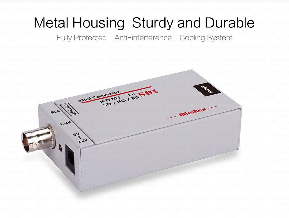 Mini 3g HDMI To SDI Converter Full HD 1080P HDMI to SDI Adapter Video Converter with Power Adapter for Driving HDMI Monitors (5)