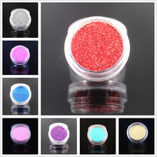 1Pcs Delicate 12 Colors Glitter Nail Art Dust Tool Kit Acrylic Gem Polish Nail Tools 3D Nail Art Decorations Nail Glitter Powder(China)