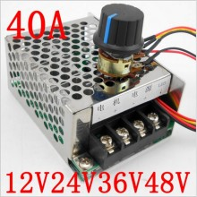 DC 10v ~ 50V 40A PWM Speed Motor Controller For Brush Motor Control 0% - 100% motor adjust speed regulator