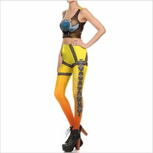 Game OW costume Tracer Women Cosplay Tops and Pants (Sell By Separate) sexy anime clothing costume comfortable legging tights