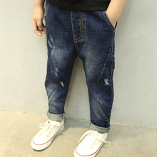 New year children gift Boys Pants, Boy fashion jeans, spring and autumn children jeans. for age: 5 7 9 11 13 14 years(China)