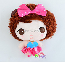 25cm super lovely korean cartoon moss doll for girls kids bag mini cute plush aslant packbag