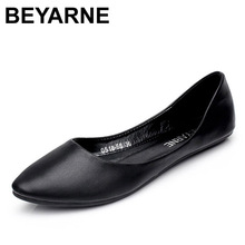 BEYARNE New Arrival 2017 Spring and Autumn Women's Loafers Loafers Women Flat Heel Shoes Boat Shoes Casual Free Shipping(China)