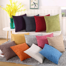 Fashion 8 color Solid Pillowcase Simple Plain Decorative Cushion Cover Home Decoration Products Sofa Car Chair Pillow Case(China)