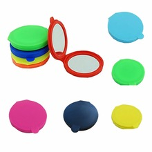 1pc Makeup Mirror Folding Pocket Mirror Compact Silica Gel Portable Cute Small Hand Mirrors Makeup Cosmetic WA679 P2