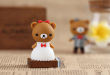 Wedding dress usb flash drive couple teddy bear USB Flash Pen Drive 4GB 8GB 16GB pendriveping (Assorted Color) S255(China)