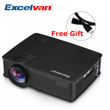 Excelvan GP9 EHD09 Mini LED Projector 800x480pixels Support 1080P 1800 Lumens Home Cinema HDMI/USB/SD/AV/3.5mm GP-9 Proyector(China)