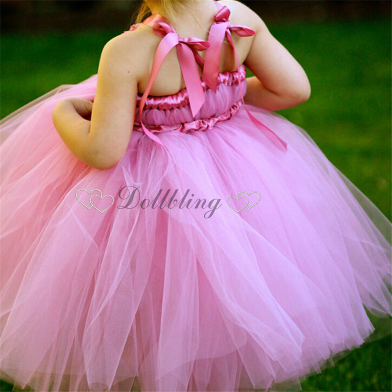 Ellies Bridal Hot pink rose red beautiful cute little girl ballte tutu dress 2-12Y Pageant formal fairy posh dress 1037<br>