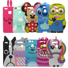 3D Cartoon Stitch Pattern Case For Coque Huawei P9 Lite Case Soft Silicone Phone Cover Case For Huawei Ascend P9 Lite