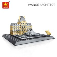 Buy WANGE Architecture Block Louvre Museum Paris France Building Blocks City Diy Toys Children Compatible Bricks Educational Kid for $30.40 in AliExpress store