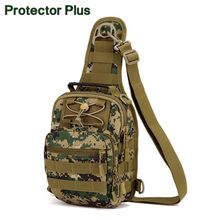 Protector Plus Military Nylon Hand Bag Pack Shoulder Bag Molle Pouch Bag for Men Women Camouflage Unisex Chest Bags Many Colors(China)