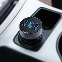 Fast Car Charger 5V 3.1A Quick Charge Dual USB Port LED Display Cigarette Lighter Phone Adapter Car Voltage Diagnostic
