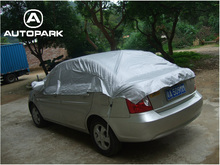Universal Car Cover Prevent Heat Cold Sun Rain Snow  Half Auto Cover for Sedan SUV Pickup PVC Coating Cover M L XL Optional
