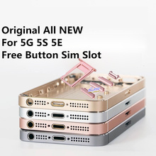 All New With Button Can print IMEI For iphone 5 5G 5E 5S Back Battery Cover Middle Frame Back Housing battery cover housing