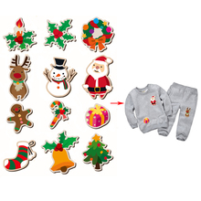 Christams Decoration Patch 15.6*22cm Heat Transfer Iron On Patches For Clothing DIY Accessory Appliqued A-level Washable