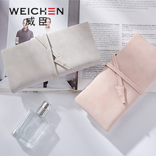 2017 new arrival fashion women wallets brand long wallet solid PU string solid color high quality thin wallets for women(China)