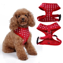 High Quality 4 colors Star Designs Dog Harness Canvas Dog Puppy Vest Type Walking Tool XS-XL