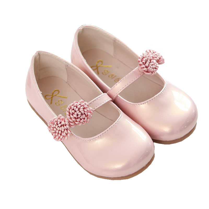 Pink Children Flowers Girls Kids Leather Princess Shoes For Teens Teenagers Girls  Baby Party Wedding Dance 32cc6d2b4dc1