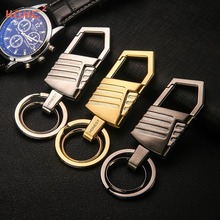 Car Keychain High-end Key Pendant Creative Metal Keyring Business Gift for Men for Mercedes BENZ Chrysler Citroen Daihatsu Ford(China)