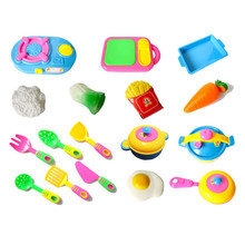 HOT 17pcs Plastic Kids Children Kitchen Utensils Food Cooking Pretend Play Set Toy SEP 02(China)