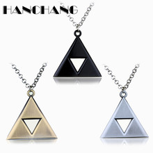 Buy Anime Jewelry Legend Zelda Necklace Triforce Triangle Necklace Men Woman Accessories Link Chain Gift for $1.50 in AliExpress store