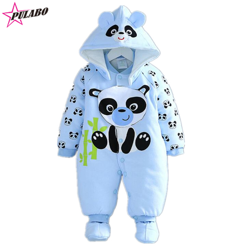 new brand Cute Winter Warm Long Sleeve warm Infant Baby Romper Cartoon Jumpsuit Boys Girls Bear Animal Overall Clothes<br><br>Aliexpress
