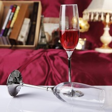 1 pair 13156 Modern household glass goblet/ Creative Champagne Cup/ Fashion wedding party supplies