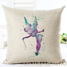 Online Store Colorful Cartoon Girl Printed Cushion Houseware Linen Throw Pillow Almohadas Home Couch Seat Bed Decor Cojines