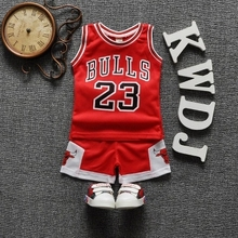 2016 brand new unisex kids clothes sports letter print baby boys tracksuits 2pcs sport vest+pants loose girls suits sleeveless
