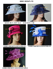 Wholesale Design wide brim dress Sinamay Hats Church hats sell in mix style, for races/Kentucky Derby wedding,can't pick style(China)