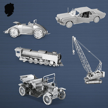 1965 FORD MUSTANG CRAWLER CRANE Car model 3D puzzle Stainless steel metal Classic collection of transport DIY Souptoys