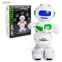 Drum Robot Space Dancing Humanoid Robot Toy with Light Children Pet Brinquedos Electronics Jouets Electronique Toys for Kids