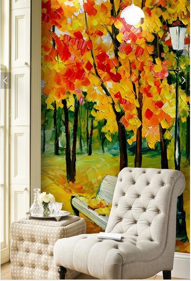 Custom wallpaper for walls 3 d. Woods landscape painting for the living room bedroom TV backdrop waterproof papel de parede<br>