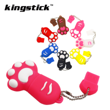 Kingstick Pen Drive 32GB 64GB 128GB USB Stick cute Cat claws USB Flash Drive 4GB 8GB 16GB Memory Stick USB2.0 creative U disk