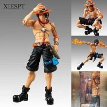 XIESPT One Piece Portgas D Ace 18cm PVC Action Figure Collection Movable Model Toy Free Shipping