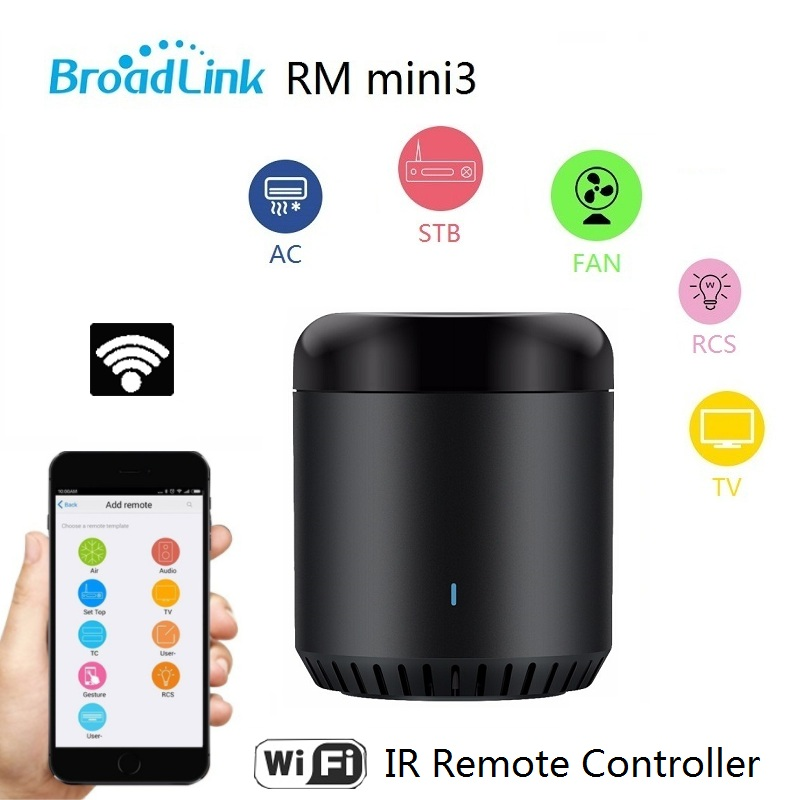 2017 New Original Broadlink RM Mini3 Universal Intelligent WiFi/IR/4G Wireless Remote Controller Via Phone Smart Home Automation(China)