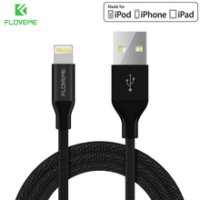 FLOVEME MFI Certified For Lightning to USB Cable Nylon Braided Fast Charging USB Cord For iPhone 5 6S 7 8 Plus X Charger Cables(China)