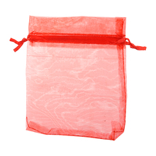 60 X Bag Gift Bag Organza Pouch Fine Jewelry Bag Red