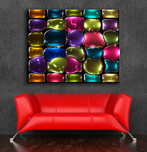 Large size Printing Oil Painting Mosaic stained glass Wall painting Decor Wall Art Picture For Living Room painting No Frame!