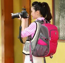NEW PINK Backpack  Bag Camera Bag Camera Case For DSLR SLR Nikon Canon Sony Fuji Pentax Samsung Travel Bag RU SQY-S6